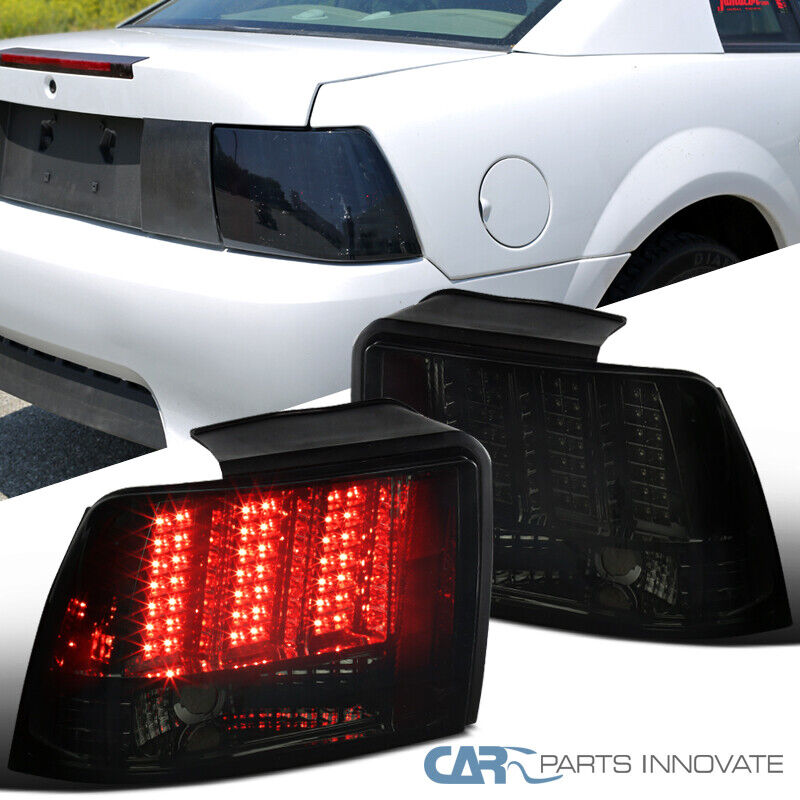 99 04 ford mustang smoke sequential led style tail lights rear brake. Black Bedroom Furniture Sets. Home Design Ideas