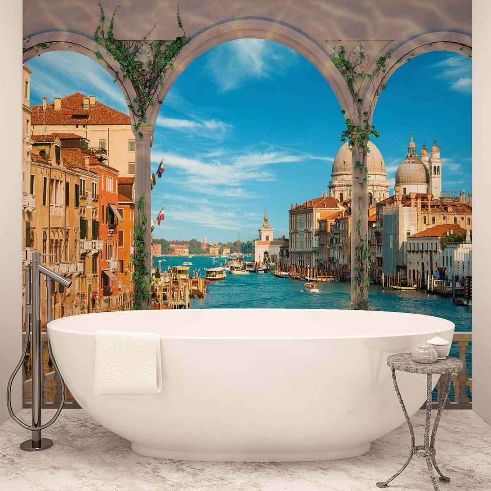 wall mural photo wallpaper xxl arches venice italy 1072ws ebay. Black Bedroom Furniture Sets. Home Design Ideas