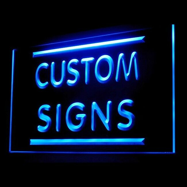 led signs light custom sign personalized customize display name text advertising lighting commercial cm 60cm 30cm