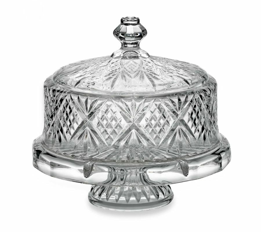 Crystal Cake Plate Amp Round Dome Cover Stand Amp Lid Display