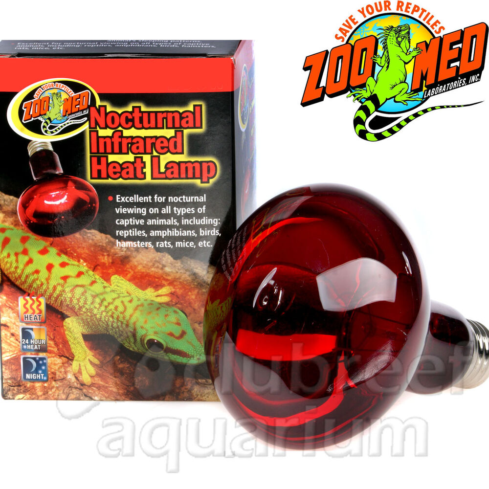red incandescent reptile heat lamp 50w 75w 100w 150w zoo med ebay. Black Bedroom Furniture Sets. Home Design Ideas
