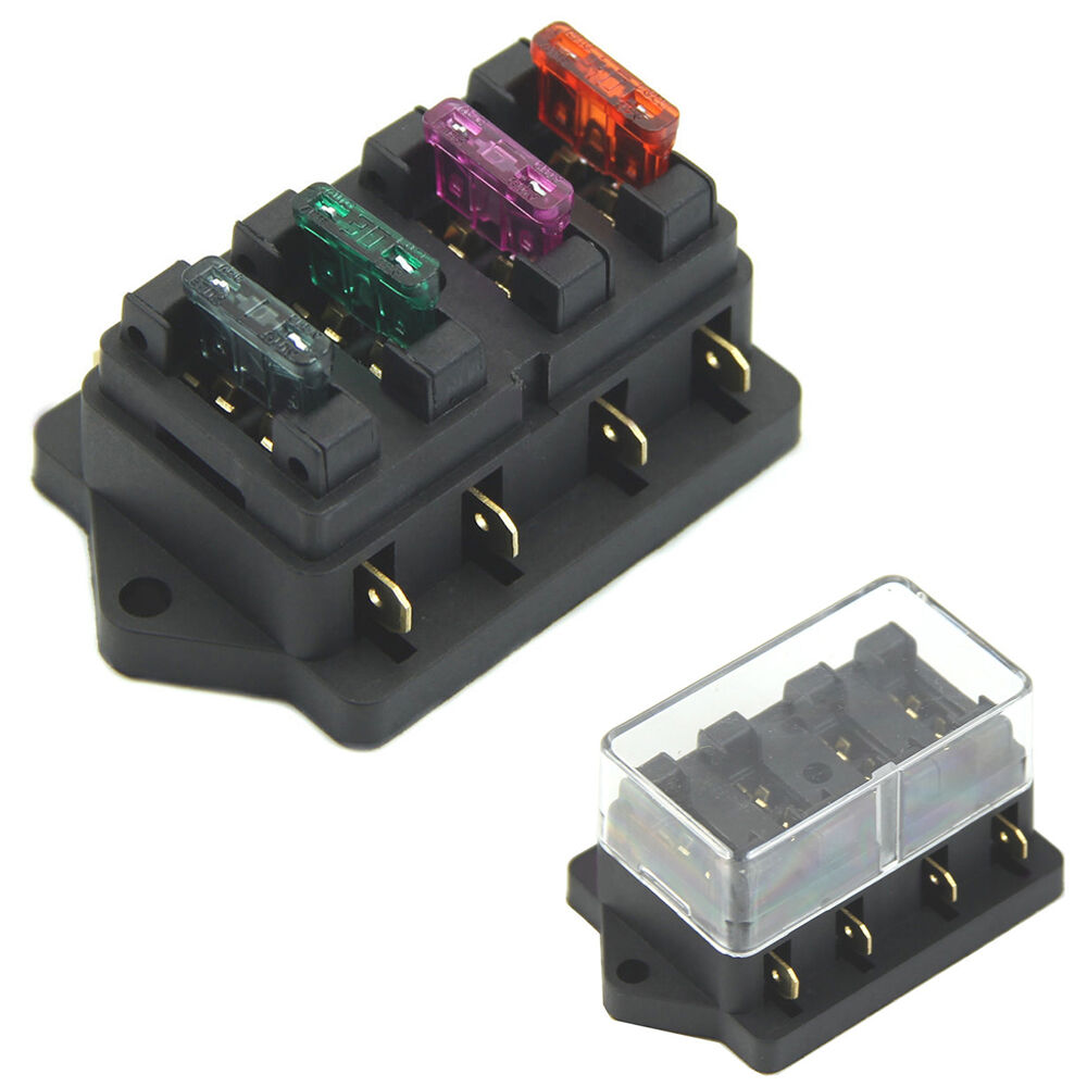 4 way car circuit standard ato blade fuse box block holder early bronco fuse box blade #15