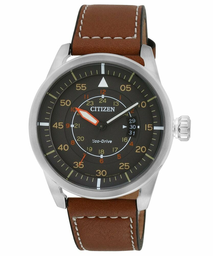 CITIZEN AW1360-12H Eco-Drive Aviator Pilot Power Reserve ...