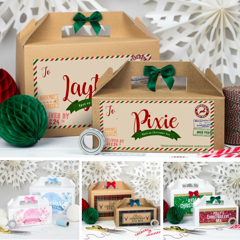 Personalised Christmas Eve Gift Box Xmas Favour Present