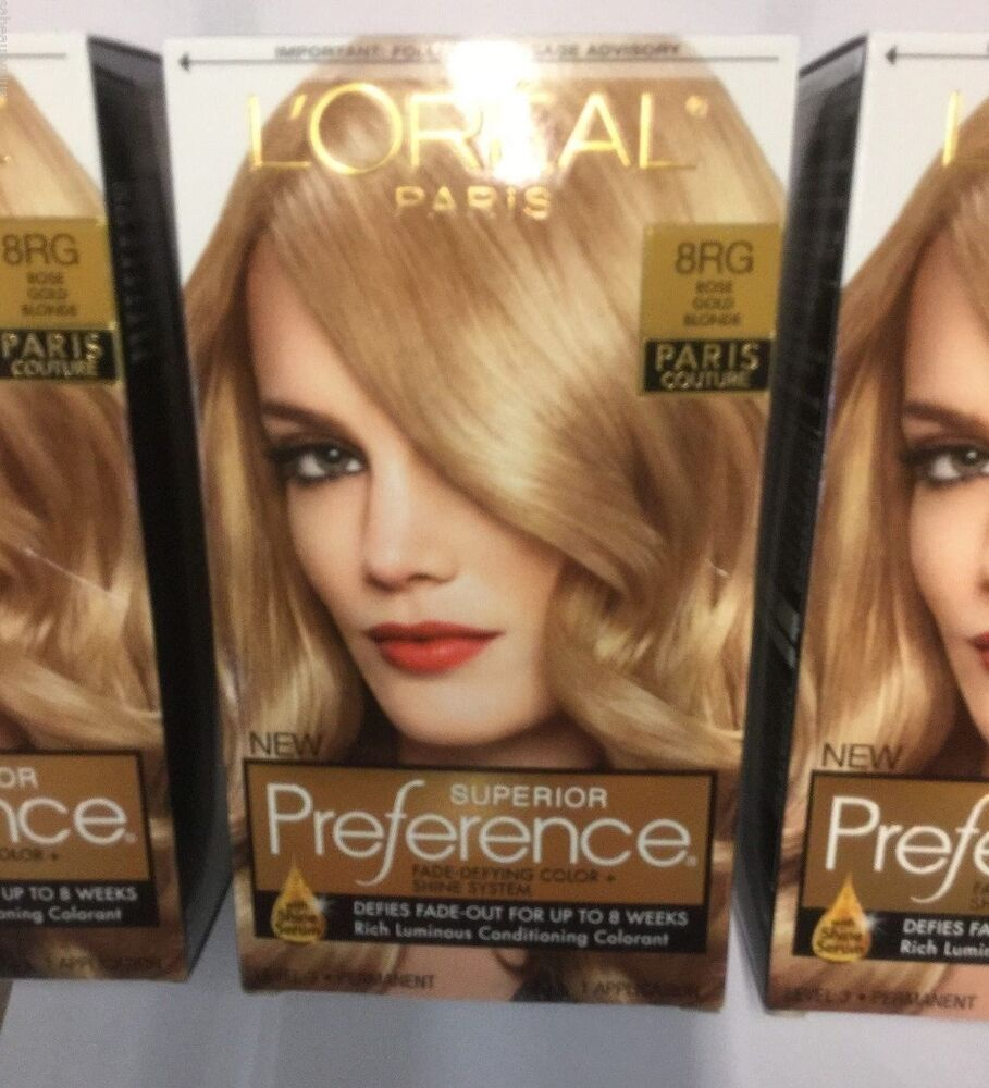 3 X Loreal Superior Preference Paris Couture Hair Color Rose Gold