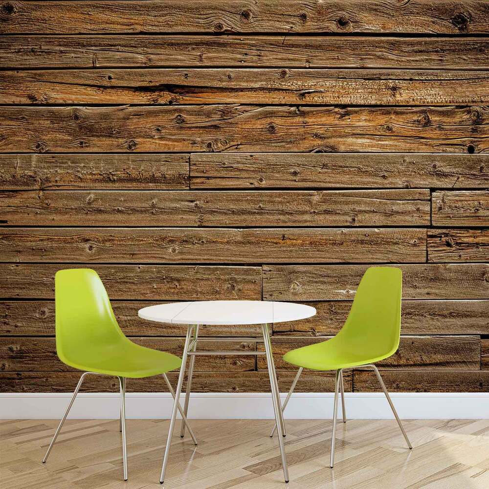 Wall mural photo wallpaper xxl wood planks 1973ws ebay for Mural on wood