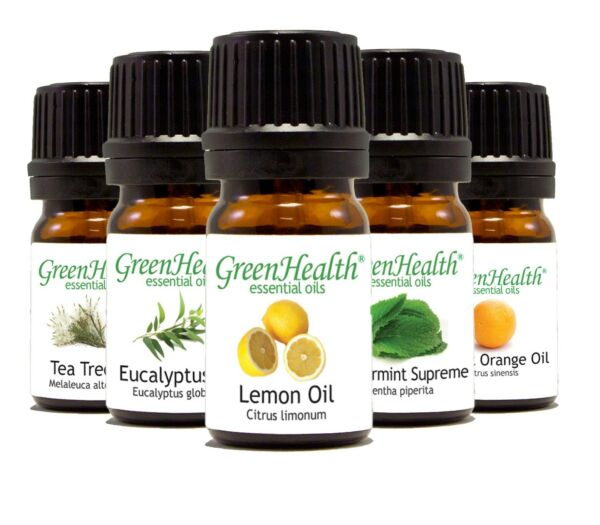 Green Health 5ml Essential Oils - 100% Pure & All Natural - Aromatherapy