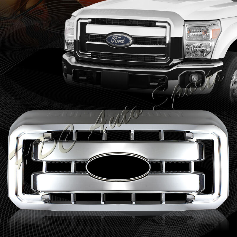 For 2011 2016 Ford F250 F350 Super Duty Chrome Grille