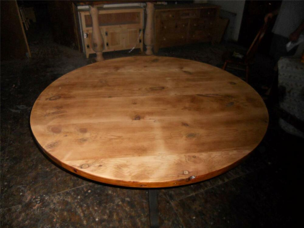 Amish Built Unfinished Reclaimed Barn Wood Round Restaurant Bar Table Tops Ebay