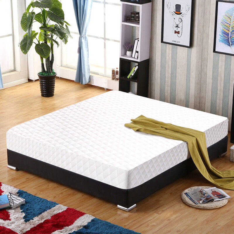 new twin size 10 memory foam mattress bed pad topper free pillow 6940350808229 ebay. Black Bedroom Furniture Sets. Home Design Ideas