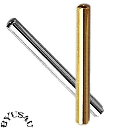 Tube metal spacer bead mm hole gold or silver