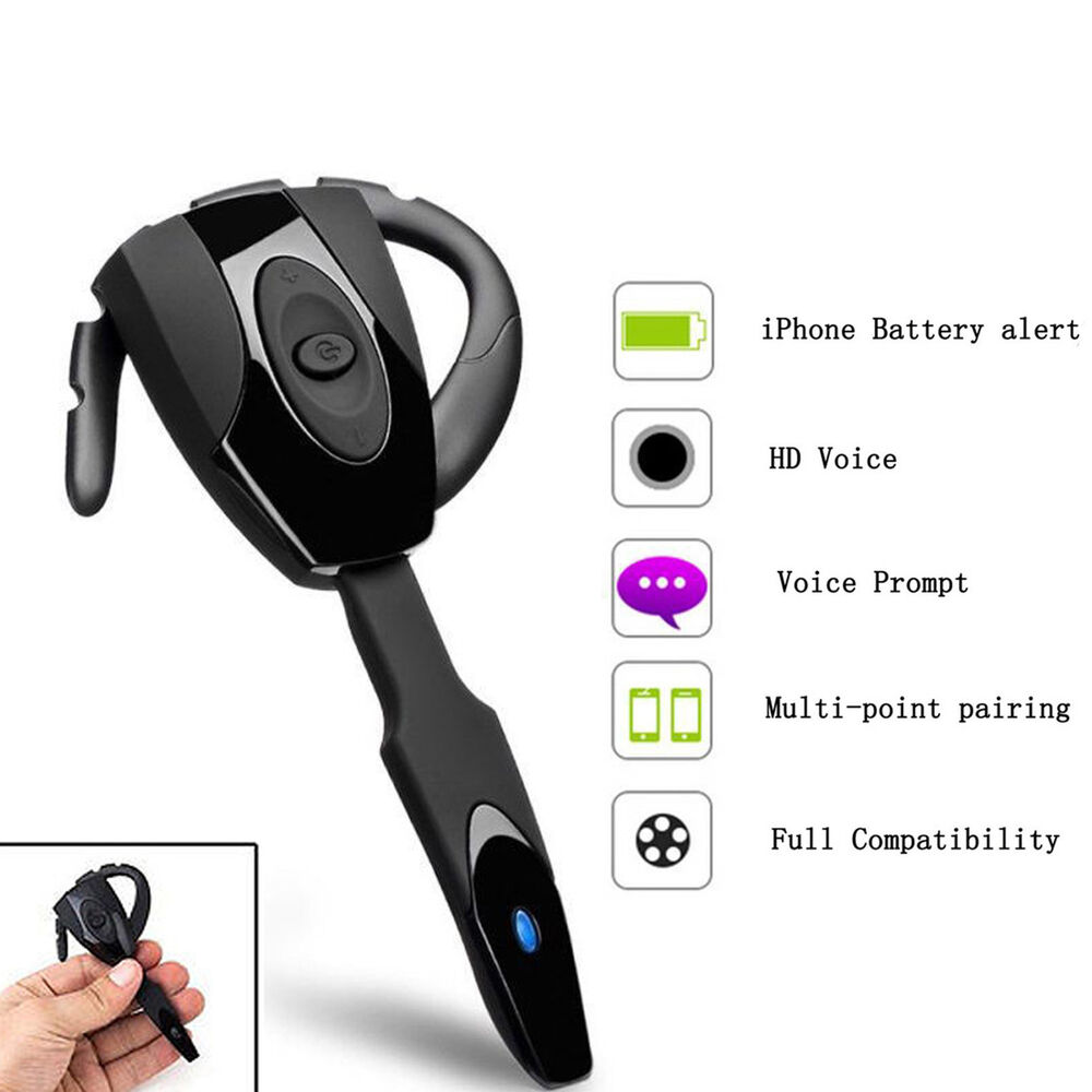universal handsfree bluetooth headphones stereo headset for mobile cell phone us ebay. Black Bedroom Furniture Sets. Home Design Ideas