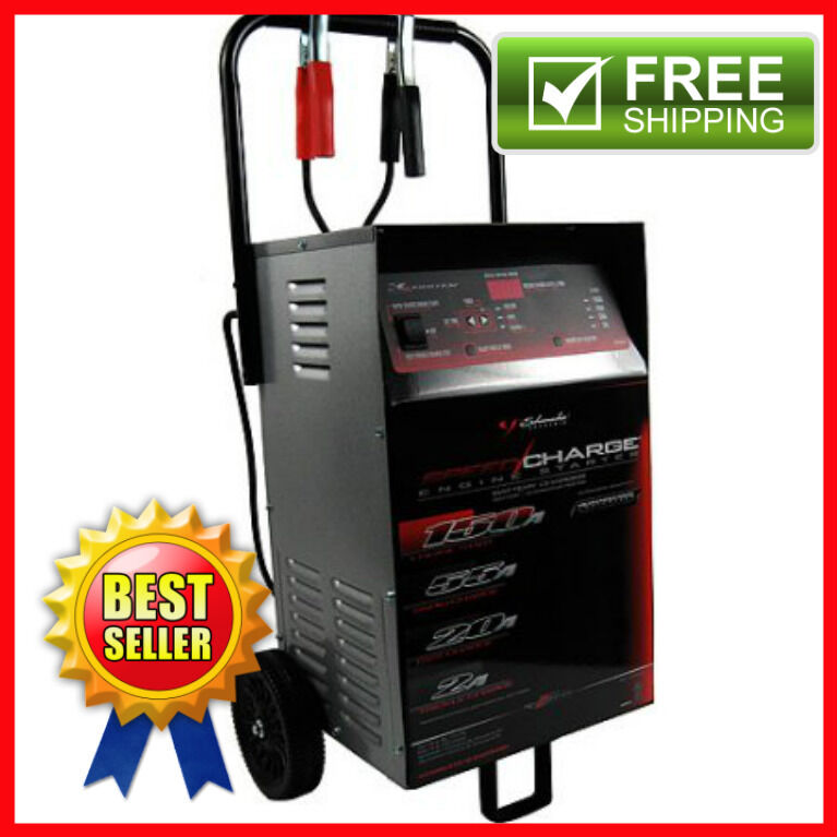 New Wheeled Car Battery Charger With Engine Start 12v