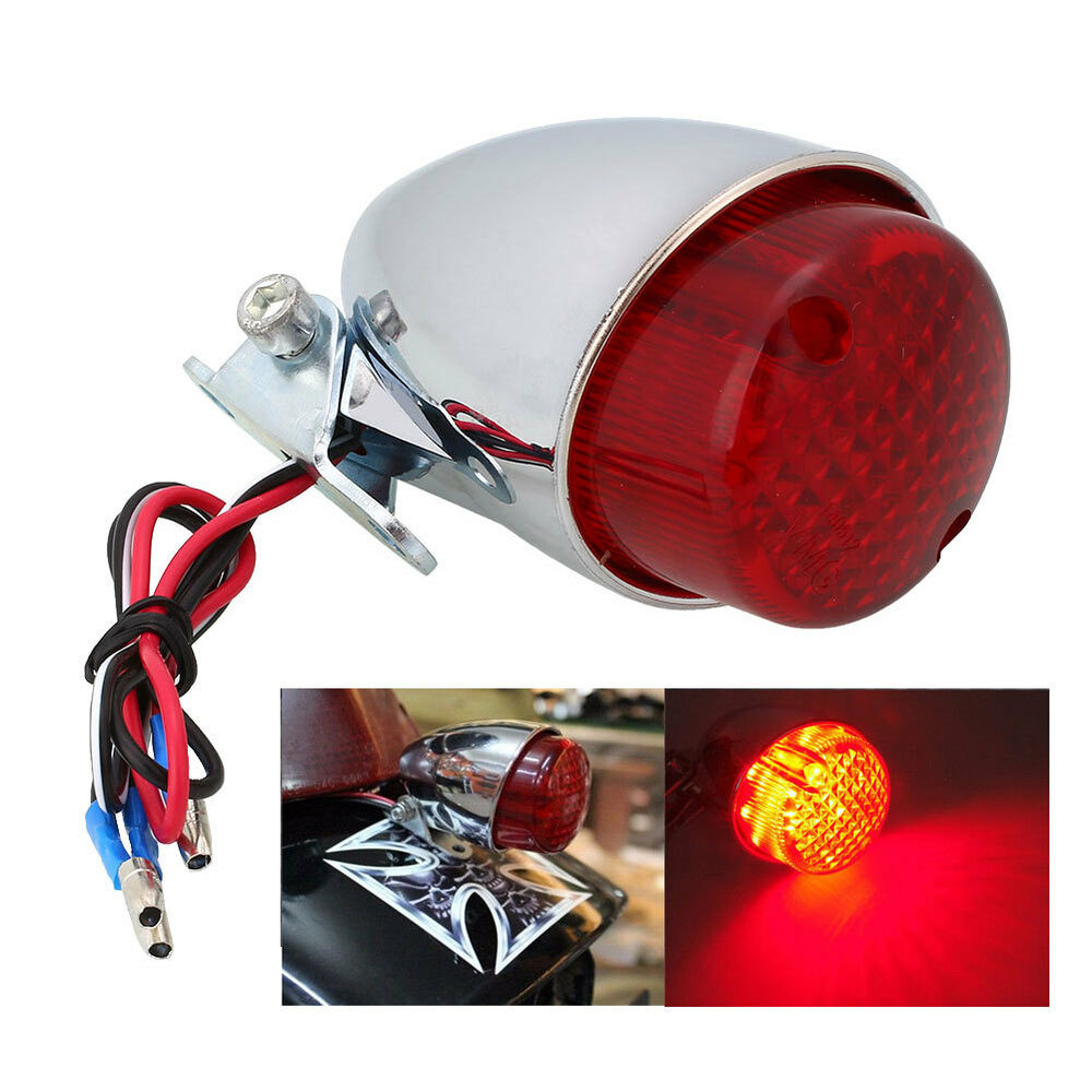 Motorcycle LED Brake Stop Running Tail Light For Cafe
