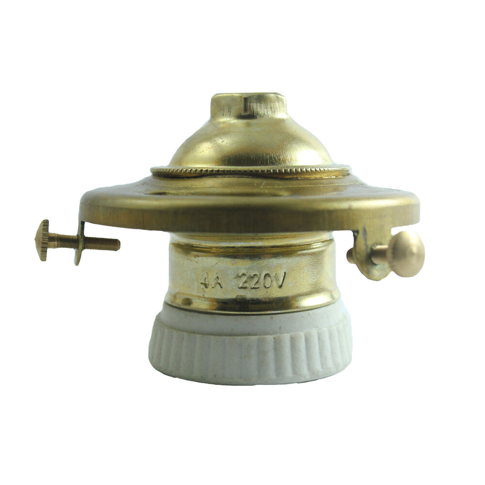 Vintage Porcelain Light Bulb Holder Standard Brass Socket