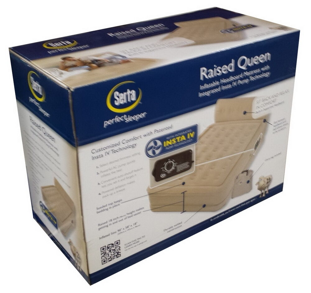 New Queen Size Inflatable Air Mattress Raised Bed Built In
