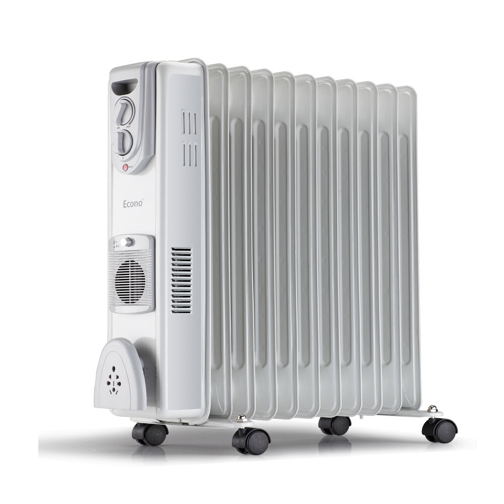 Electric Oil Radiator ~ W electric oil filled radiator heater fins with