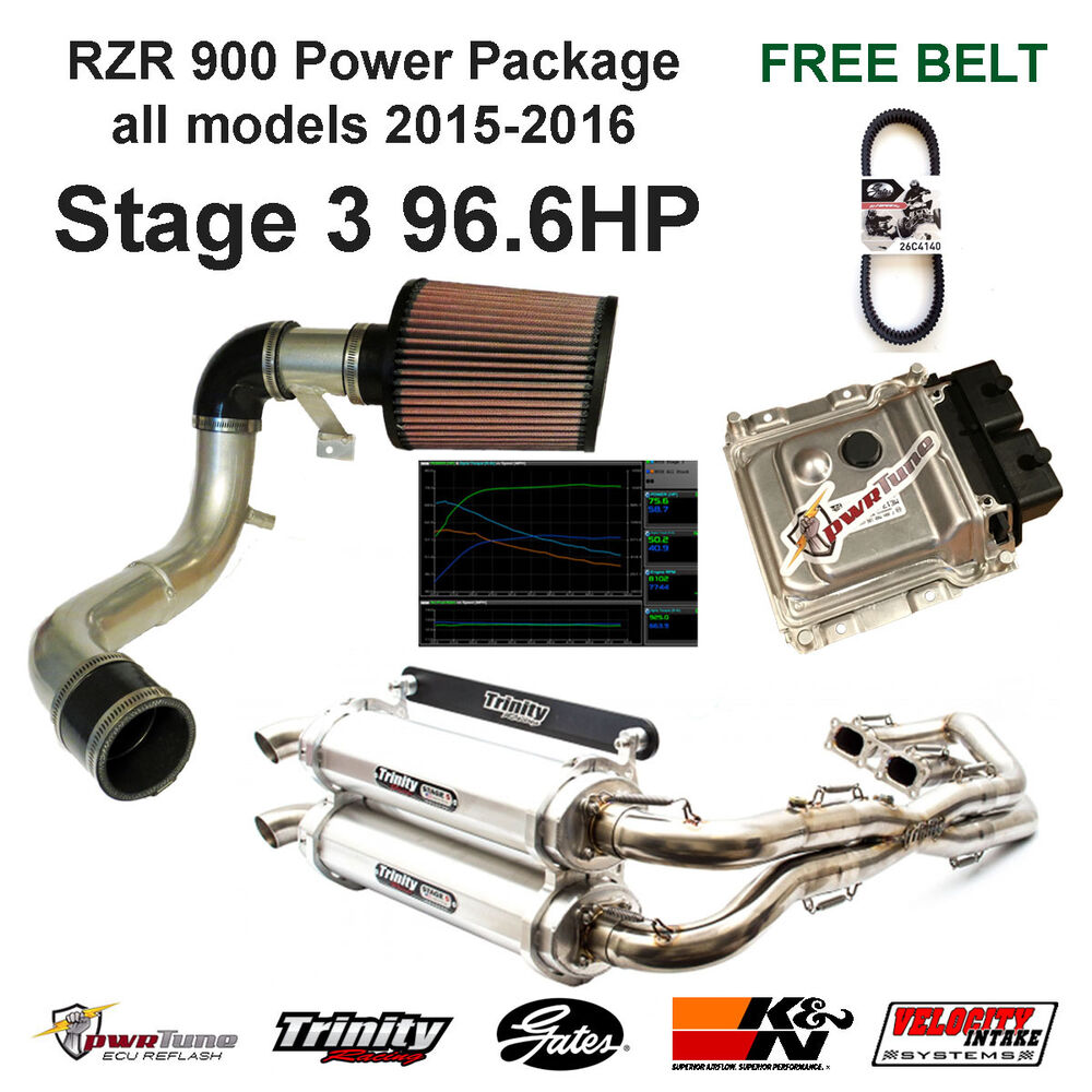 88430241a6 Details about RZR 900 15-17 Stg3 Power Package  Exhaust
