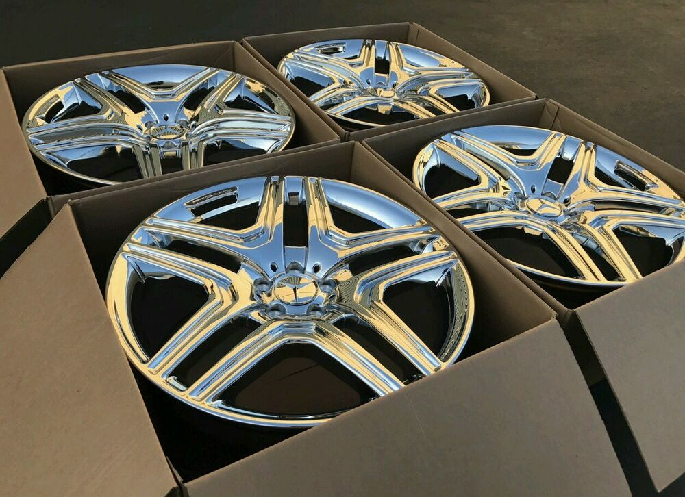 21 mercedes benz gl gl550 gl63 gl450 amg oem wheels rims for Chrome rims for mercedes benz