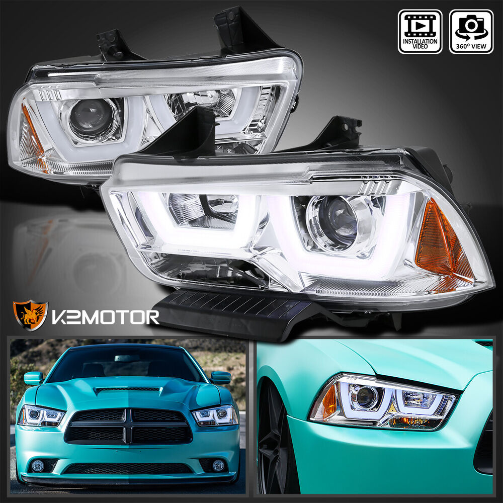 2011 2014 Dodge Charger Chrome Dual Halo Led Drl Strip