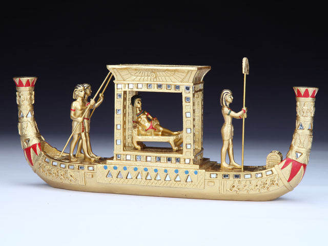 Egyptian Ancient Queen Cleopatra On Nile Boat With