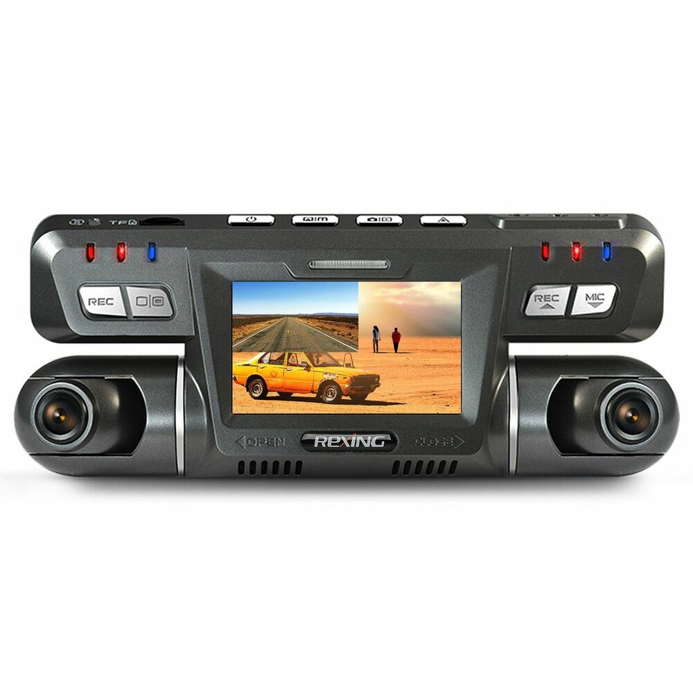 rexing g600 dash cam dual front and rear with 265 degree angle 1080p hd dashboar ebay. Black Bedroom Furniture Sets. Home Design Ideas