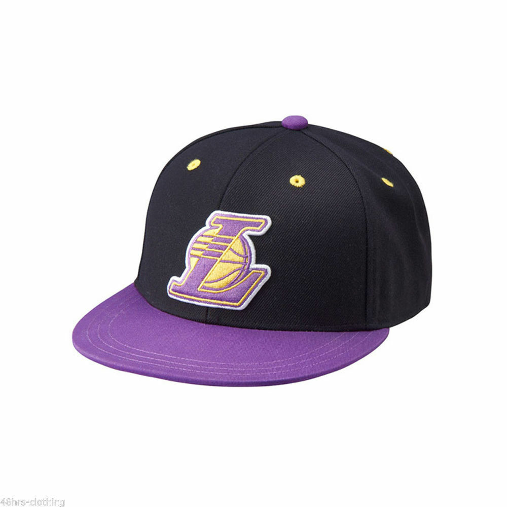 Details about ADIDAS ORIGINALS NBA LA LAKERS FITTED CAP SIZE M 4ef15f12514
