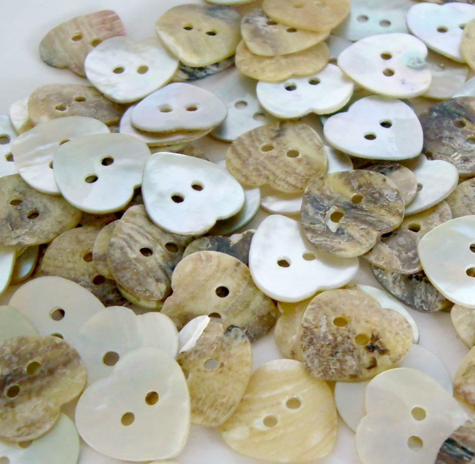 100pcs mother of pearl heart shell button lots 11mm 2. Black Bedroom Furniture Sets. Home Design Ideas