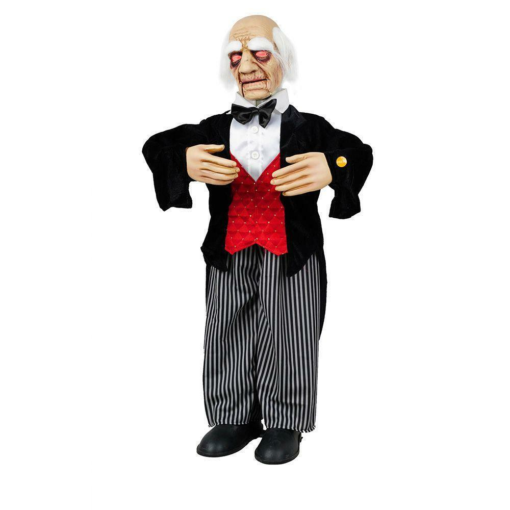 Moving Halloween Decorations: New Halloween 36 In. Animated Butler With Sound Effects