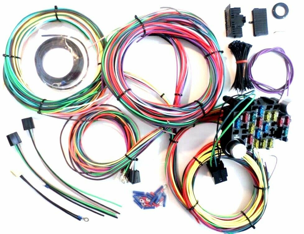 Universal Wiring Harness Chevy : Circuit wiring harness chevy mopar ford hotrods