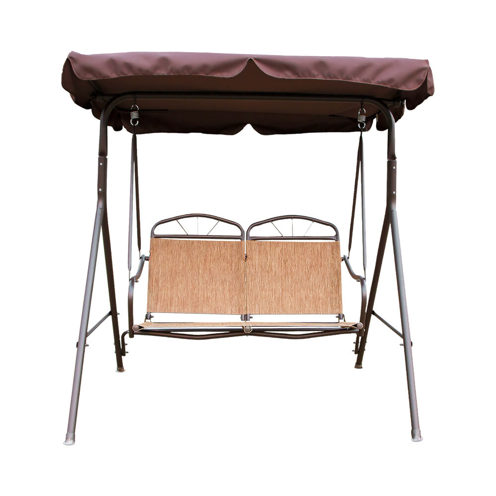 2 Person Swing Outdoor Patio Canopy Awning Yard Furniture