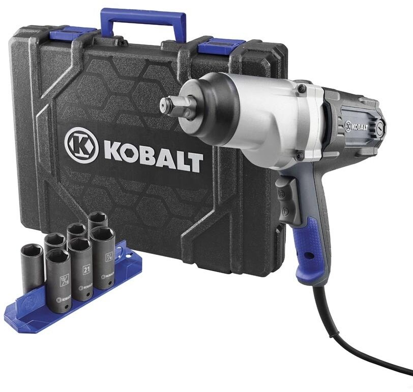 impact wrench 1 2 inch high torque 8 ft corded electric 8 amp motor tool kit ebay. Black Bedroom Furniture Sets. Home Design Ideas