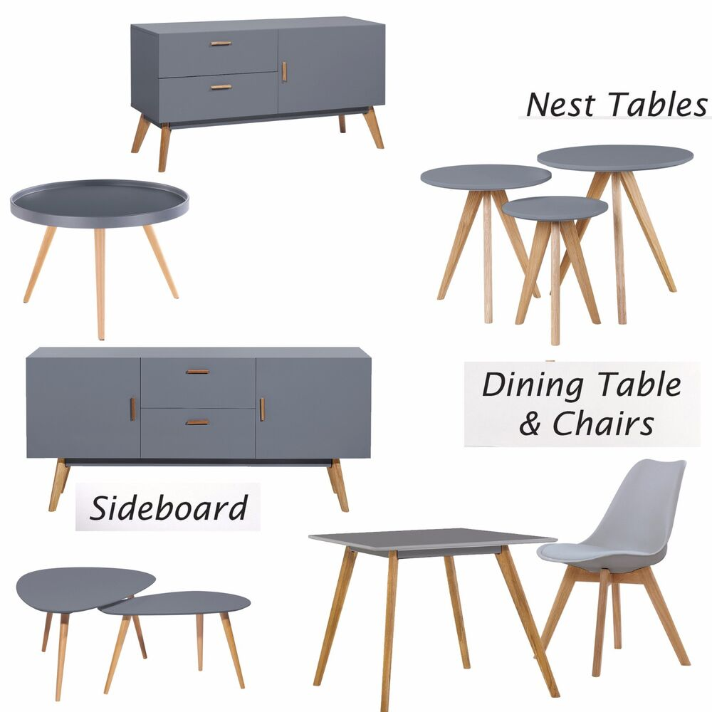 Retro Scandinavian Home Furniture Tv Stand Nest Table Side
