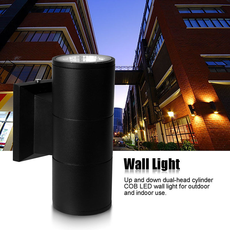 6w 10w wall light up down dual head led sconce lighting lamp indoor outdoor ebay. Black Bedroom Furniture Sets. Home Design Ideas