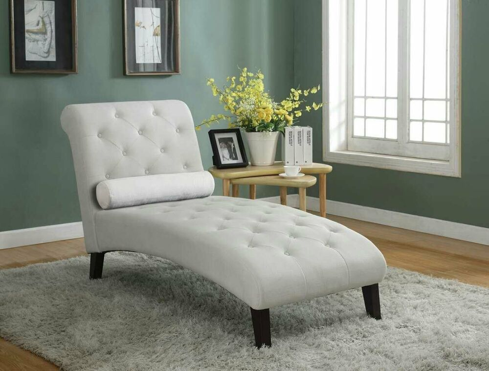 Beige Fabric Chaise Lounge Sofa Couch Seat Living Room Modern Lounger Recliner Ebay