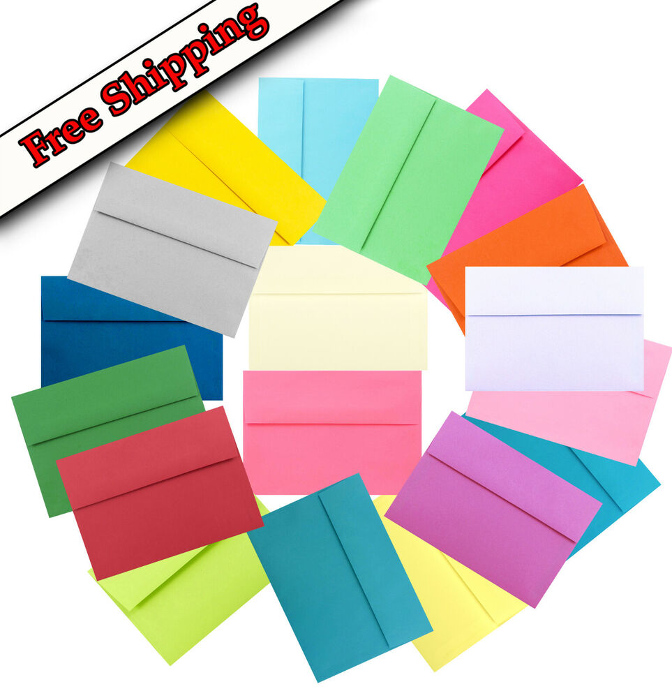 Assorted Or Pick Color Envelopes For Invitations Greeting