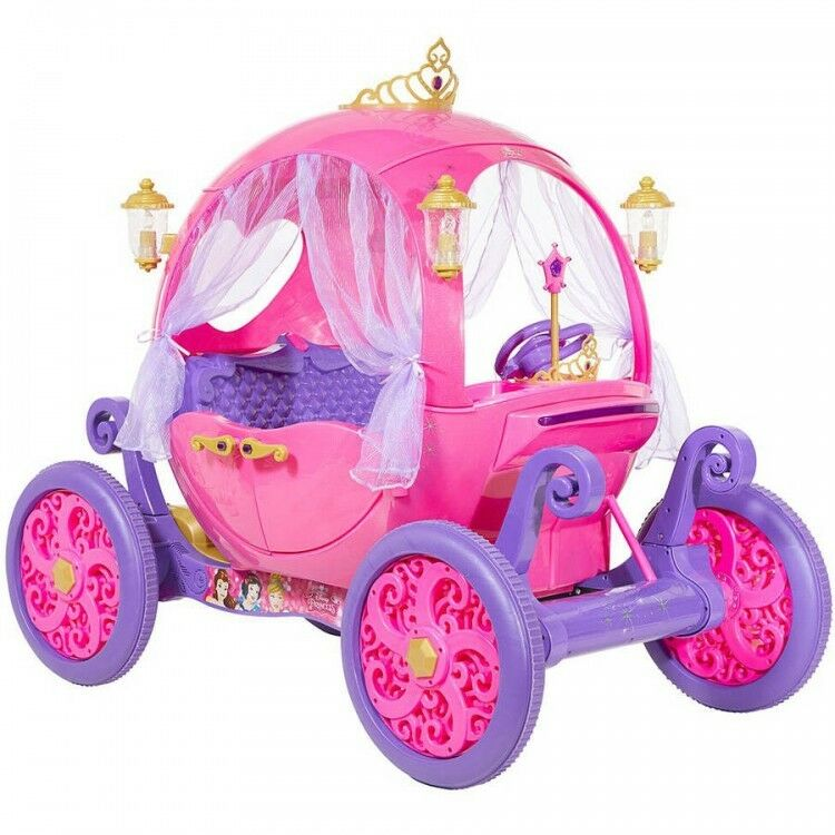 24V Disney Princess Carriage Ride On Toy Girls Kids