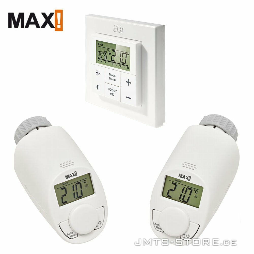 funk elektronik thermostat heizung ventil haus regler max heizk rperthermostat ebay. Black Bedroom Furniture Sets. Home Design Ideas