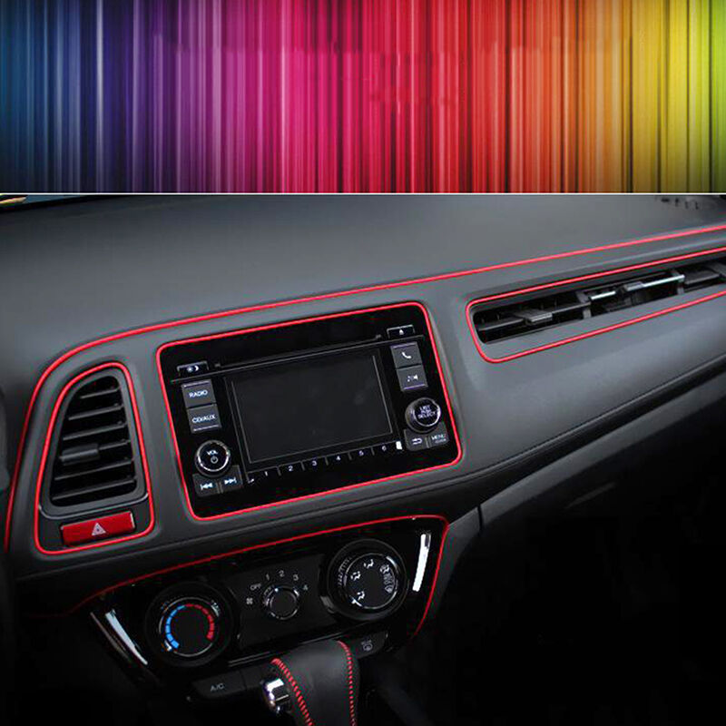 Red 5m point molding garnish car interior accessory edge gap line decor ebay for How to decorate your car interior