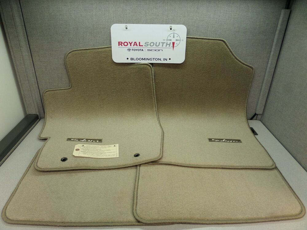 toyota solara coupe ivory carpet floor mats genuine oem oe. Black Bedroom Furniture Sets. Home Design Ideas