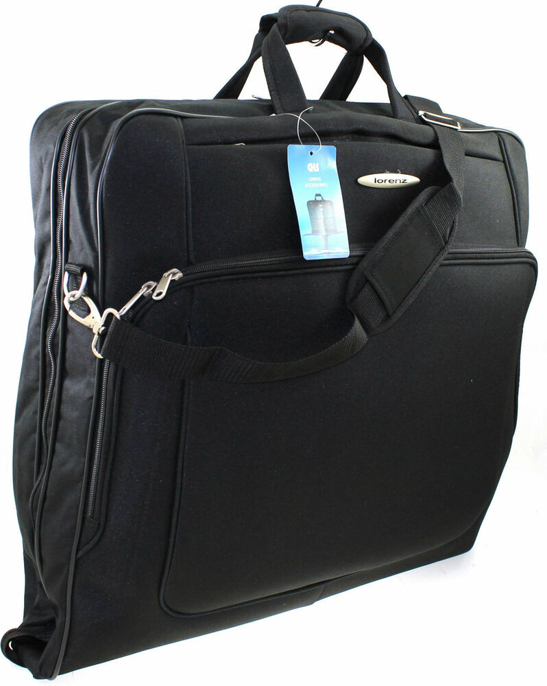 garment_Suit Garment Carrier Wardrobe Travel Luggage Bag with Shoulder Strap Black | eBay