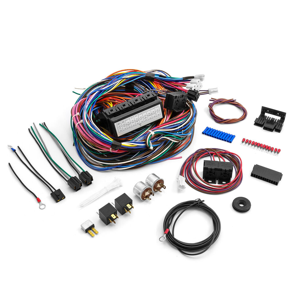 hot rod circuit universal wiring harness 8    universal    20    circuit       wiring       harness    kit street    rod       hot       rod        universal    20    circuit       wiring       harness    kit street    rod       hot       rod