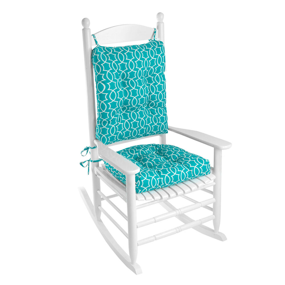 klear vu outdoor 2 piece porch rocking chair cushion set mbns1068 ebay. Black Bedroom Furniture Sets. Home Design Ideas