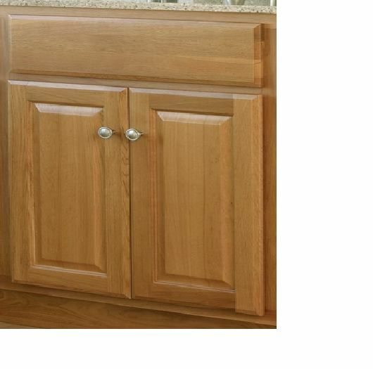 "36"" X 21"" Craftsman Golden Oak Bathroom Vanity Cabinet 2 Doors - Base Only"