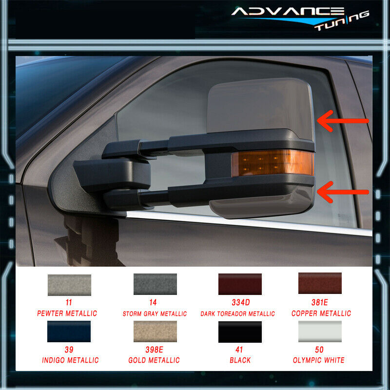 For Painted 02 07 Silverado Towing Mirrors Power Heated