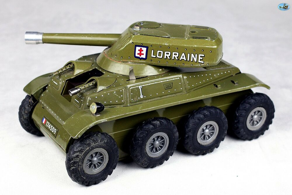 Awesome 1960 Vintage French Joustra Lorraine Army Tank Wind Up Toy Ebay