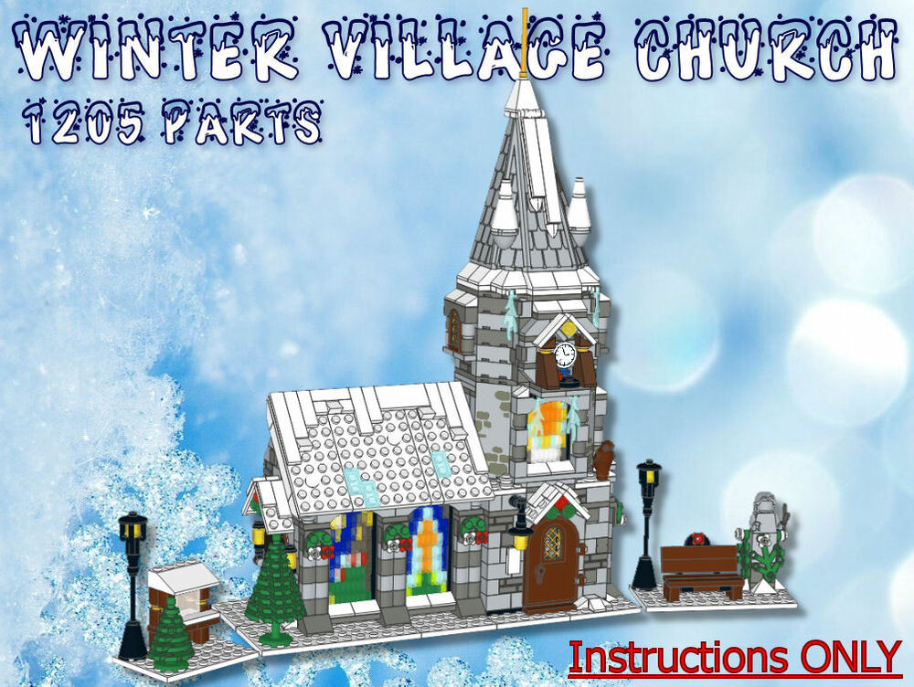 Lego Winter Village Church Instructions Only Fits 10216 10222