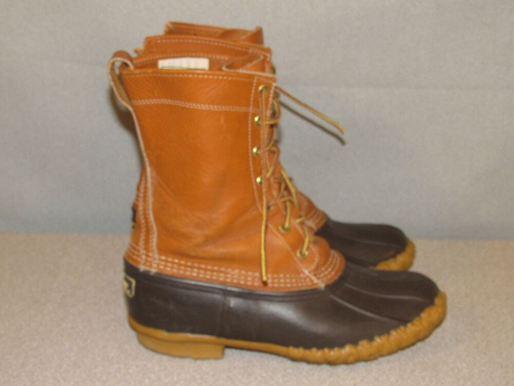ll bean 9 quot bean leather rubber boots snow winter s
