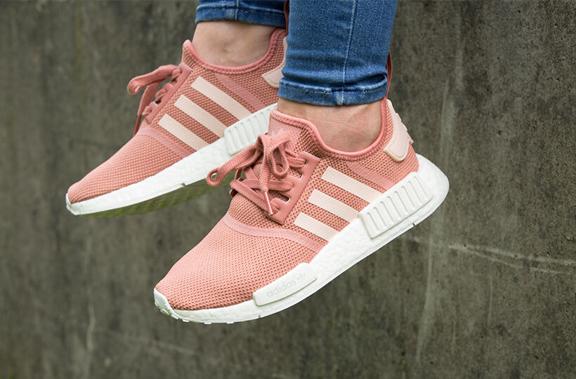 competitive price b3853 1e0e0 NEW WOMEN'S ADIDAS NMD R1 RUNNER NOMAD RAW PINK ROSE SALMON ...