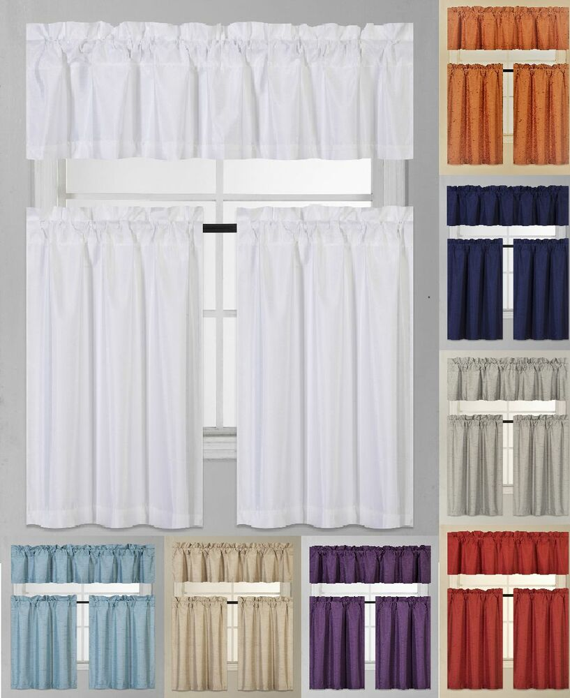 Frilled Kitchen Curtains Lined: 1 Set Thermal Insulated Foam Lined Blackout Kitchen Window